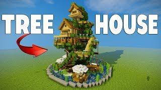 How to make a Minecraft TREE Village!