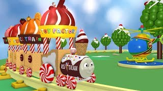 Ice Cream Train - Toy Train for children - Cartoon Train - Toy Factory - Chocolate Train - Train JCB