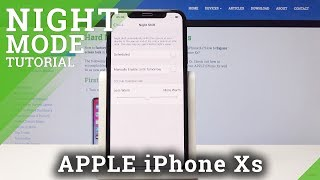 How to Enable Night Shield in iPhone Xs - Eye Protection / Night Mode