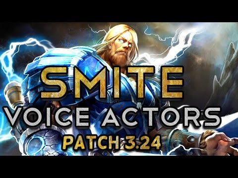 Voice Actors of SMITE (Patch 3.24)