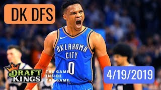 NBA DFS Analysis 4/19/2019