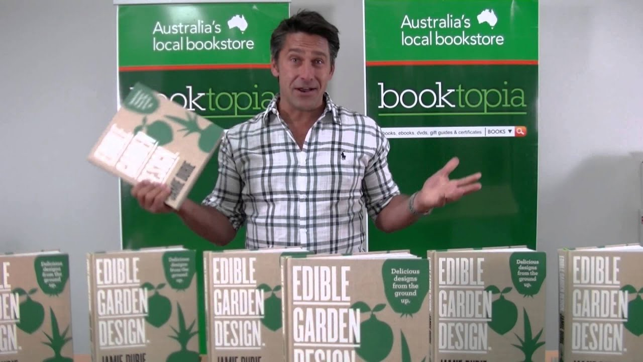 Jamie Durie introduces Edible Garden Design to Booktopians YouTube