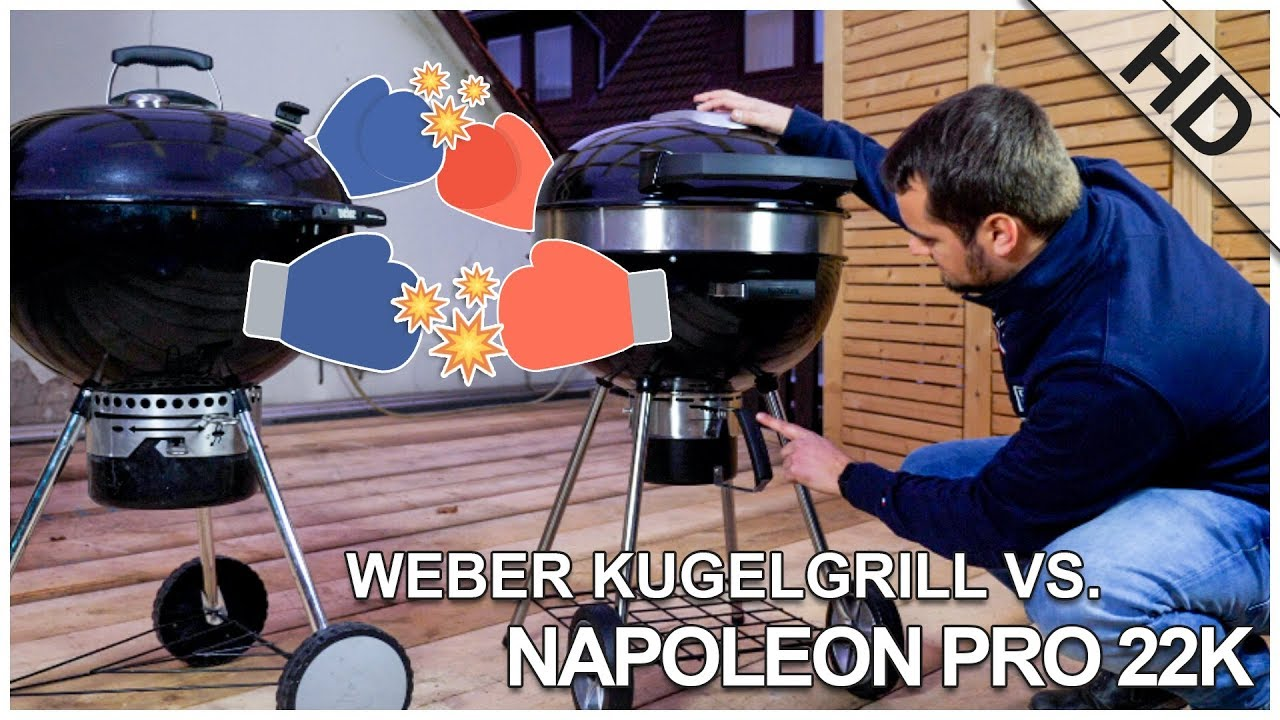 Vergleich Napoleon Weber Holzkohlegrill : Hands on: napoleon kugelgrill vs. weber kugelgrill youtube