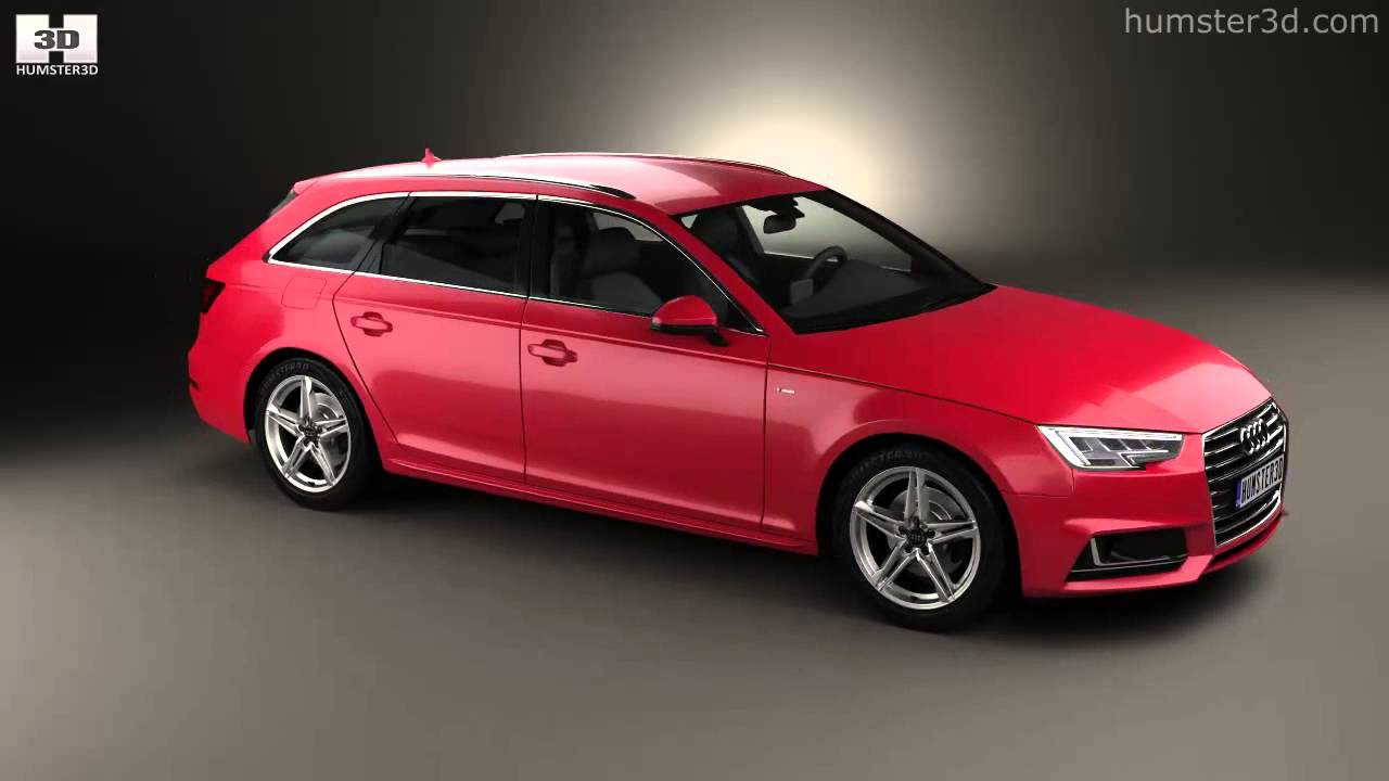 audi a4 s line b9 avant 2016 by 3d model store humster3d. Black Bedroom Furniture Sets. Home Design Ideas