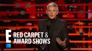 Ellen DeGeneres shares a shirtless Hemsworth pic at People's Choice Awards 2016