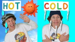 Hot Cold Action Song for Kids | Learning Opposites | Learn English Kids