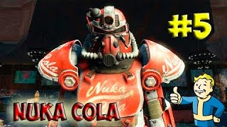Fallout 4 Nuka World Силовая броня Нюка Колы Прохождение 5 Завод по розливу Ядер-Колы
