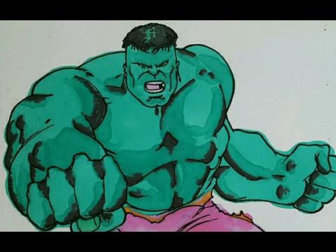 Yeşil Adam Hulk Boyama 1 Youtube