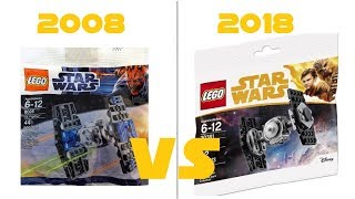 LEGO STAR WARS - 30381 Imperial TIE Fighter VS 8028 TIE Fighter -- POLYBAG COMPARISON