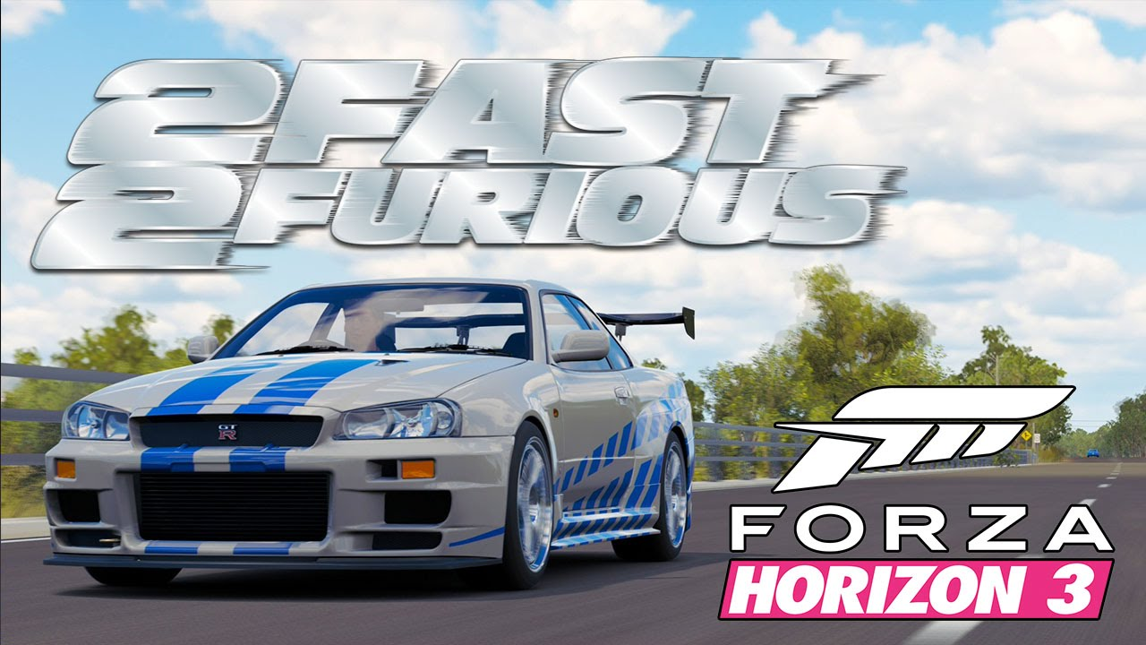 forza horizon 3 car customization 2 fast 2 furious paul walker 39 s nissan skyline r34 gtr for. Black Bedroom Furniture Sets. Home Design Ideas