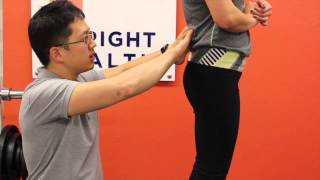 How to assess pelvis position with palpation (anterior/posterior tilt, hip elevation, rotation)