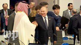 Putin, Crown Prince Mohammed bin Salman greet each other with huge smiles, handshake  at G-20