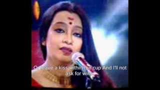 Drink to me only with by SwagataLakshmi Dasgupta  (with Lyric)