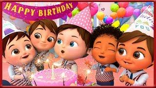 🔴 Happy Birthday Song Party in school - Banana Cartoon