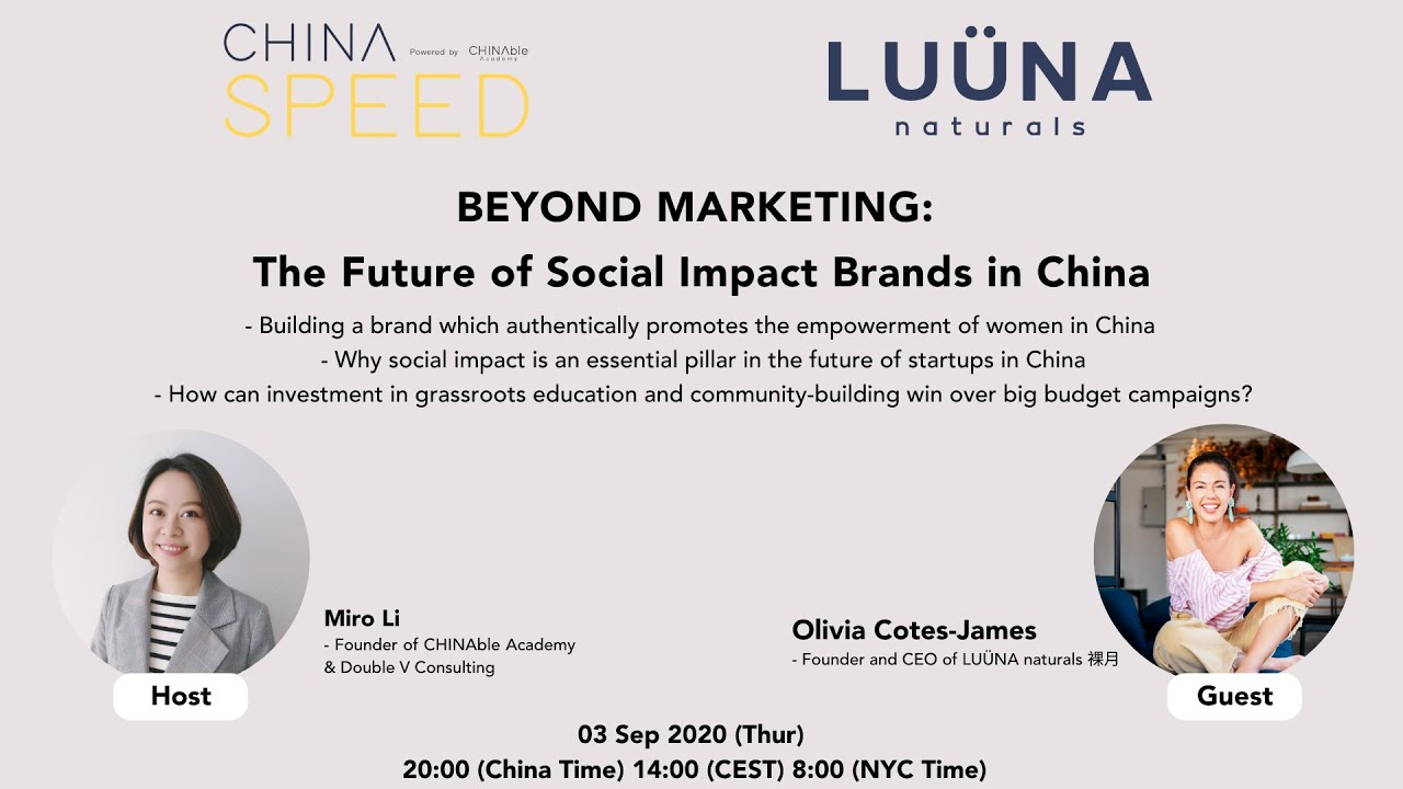 CHINA SPEED Episode 06: BEYOND MARKETING: The Future of Social Impact Brands in China