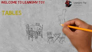 Drawing Tables, How to draw tables, coloring pages for kids, coloring book for kid