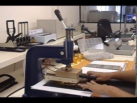 Prensa/máquina para gravação modelo MG 43 (hot stamping)