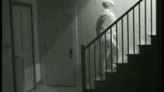 GROUNDBREAKING GHOST VIDEO - ( CLUMSY GHOST CAUGHT ON TAPE ) thumbnail