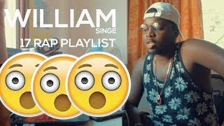 William Singe- 17' Rap Playlist  2017 Rap Medley Cover  **reaction**