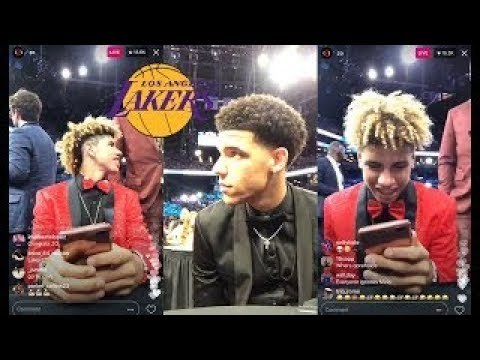 Lonzo Ball And Lamelo Ball Instagram Live Before Getting Drafted By Lakers At NBA Draft 2 new