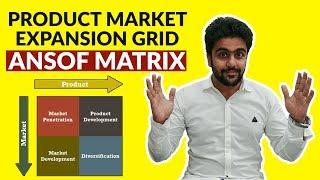 Ansof Matrix | PRODUCT MARKET EXPANSION GRID |Hindi |