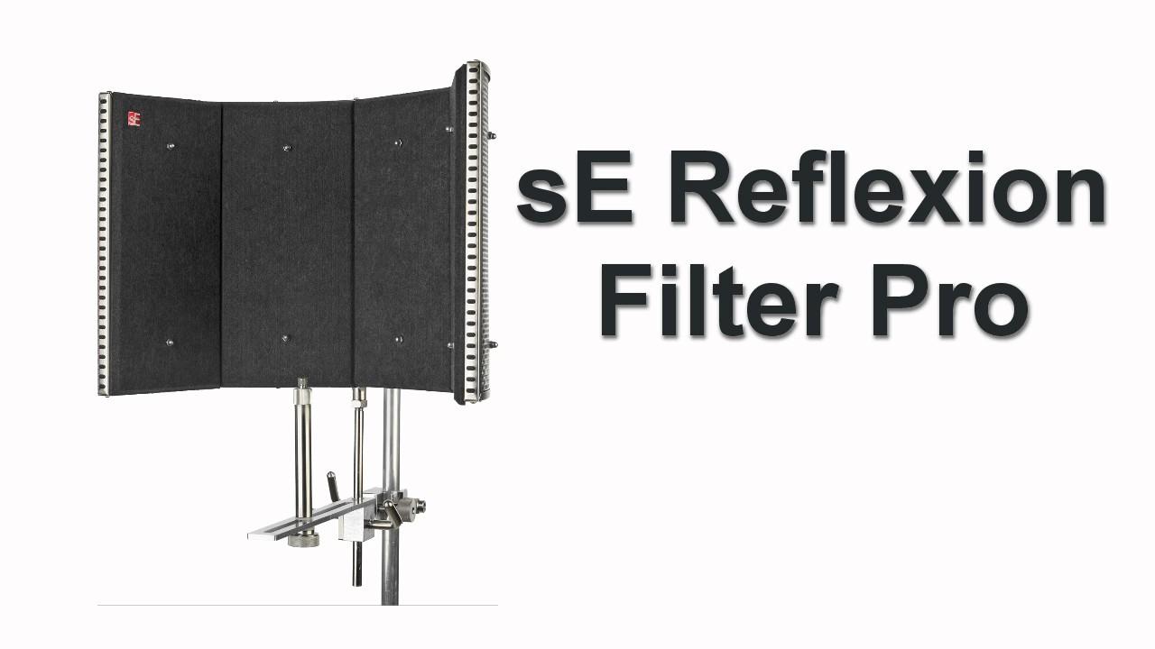 sE Reflexion Filter Pro Voice-over Comparison Test - YouTube