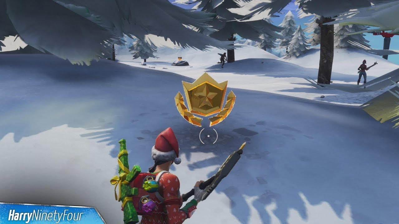 Search Between Three Ski Lodges Location Guide Fortnite Battle