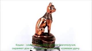 Статуэтка декоративный подсвечник египетская кошка