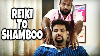 REIKIMASTER TO SHAMBOO💆 HEAD MASSAGE | CRACKINGS   INDIAN BARBER 💈ASMR
