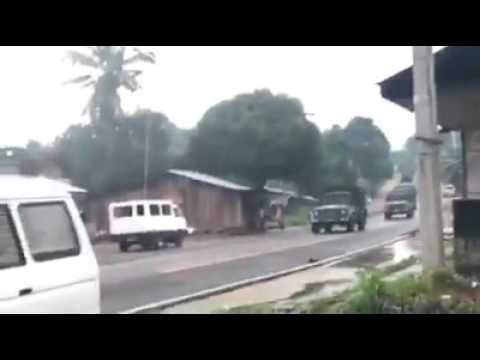 Happening now: Military Convoy on the way to Marawi City