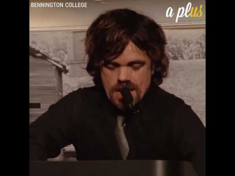 Inspiring words from Peter Dinklage