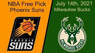 Phoenix Suns at Milwaukee Bucks - Game 4-Wednesday 7/14/21-NBA Picks & Predictions l Picks & Parlays