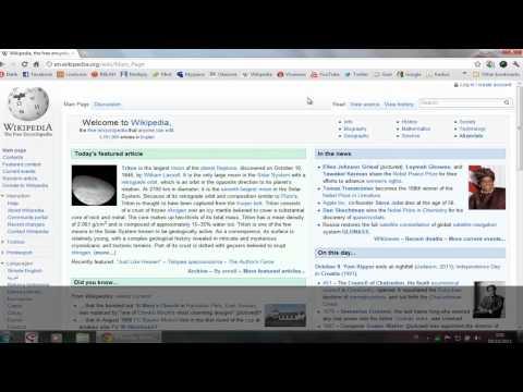 Menambah search engine di Google Chrome (wikipedia)