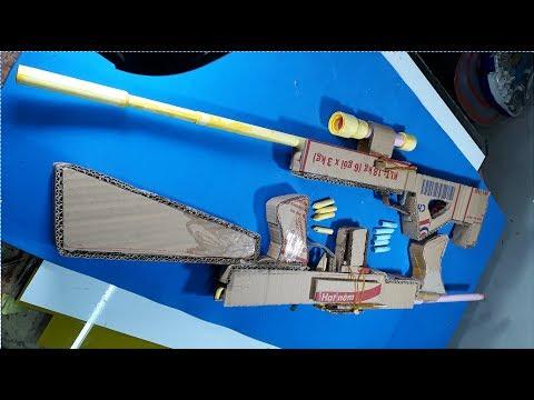 How to Make a Paper Gun that Shoots/Machine Gun-Simple life Hacks 2017-[Piece of Paper]