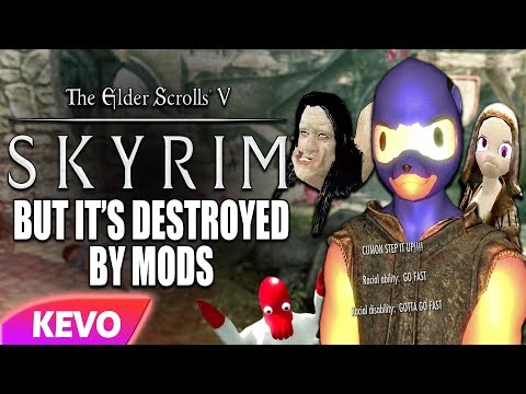 Skyrim But It's Destroyed By Mods