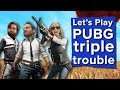 PUBG Triple Trouble with Johnny, Ian and Aoife - Let's Play PUBG