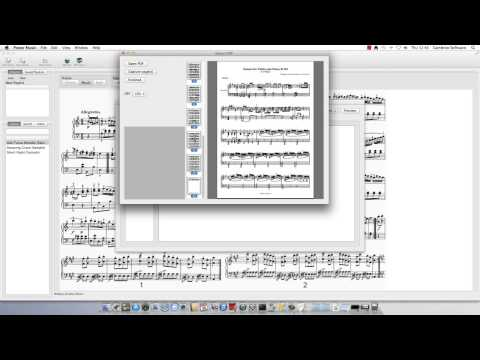 Sheet Music in Power Music Mac
