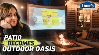 Transform Your Patio Into An Outdoor Oasis and Movie Theater   Home Becomes (Ep6)