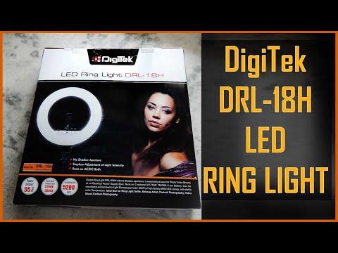 DigiTek LED Ring Light DRL 18H Unboxing & Review 18 inch