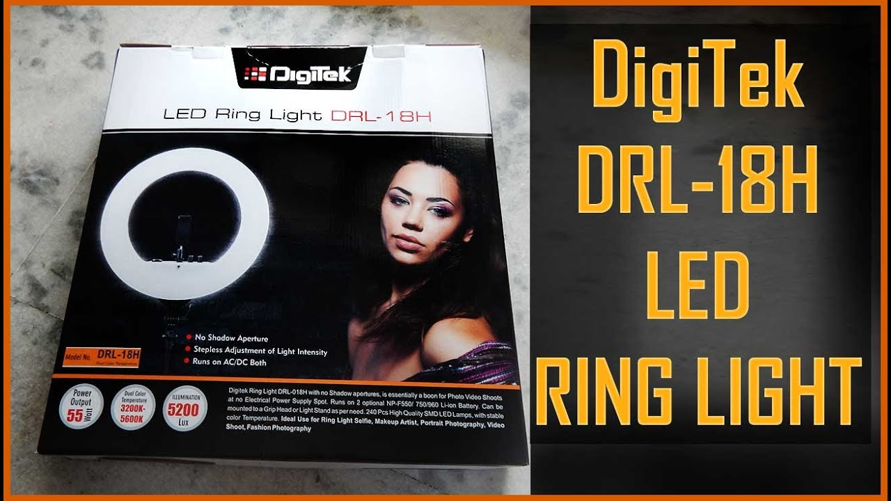 Digitek Led Ring Light Drl 18h Unboxing Review 18 Inch Youtube