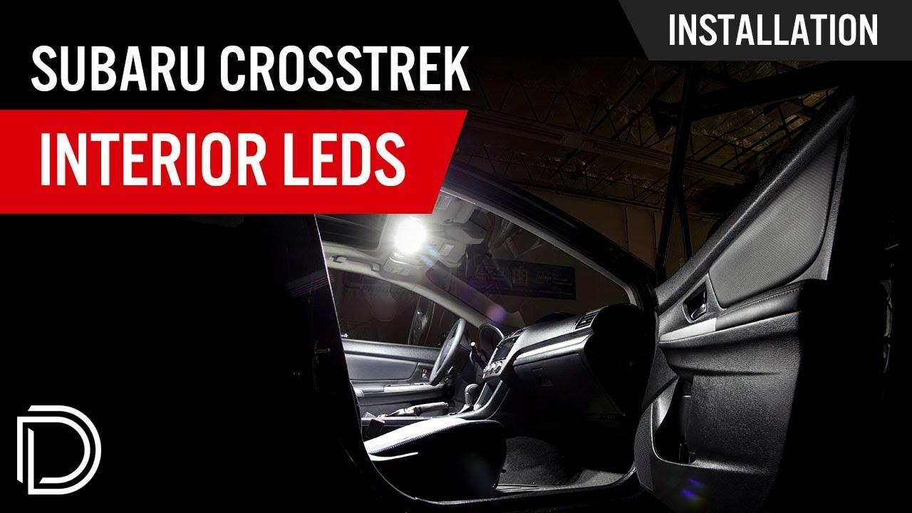 how to install subaru xv crosstrek interior leds [ 1280 x 720 Pixel ]