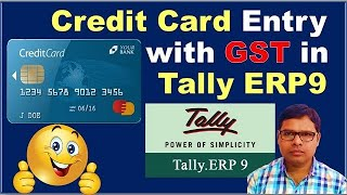 Credit Card Entry with GST in Tally ERP9 | What is Credit Card by The Accounts