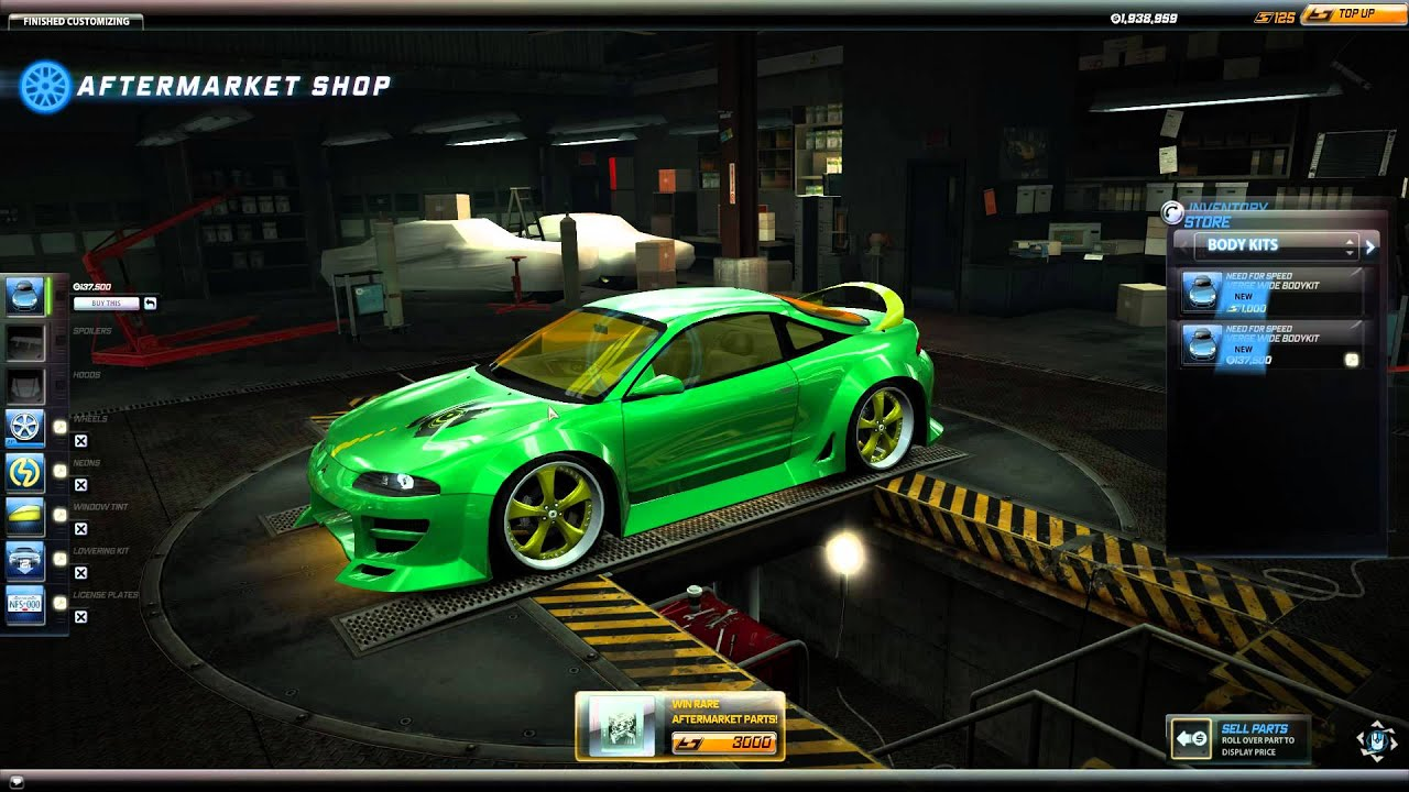 nfs world body kit for mitsubishi eclipse gs t for igc youtube