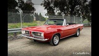 1968 Plymouth Barracuda Convertible Startup and Walkaround