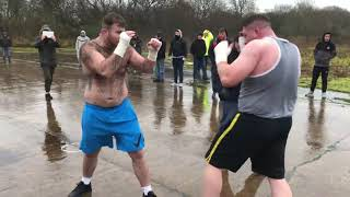 A Gorilla Gives Bigfoot A Beating Turns Him Into A Bloody Mess (gypsy bare knuckle boxing)