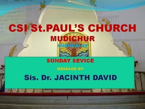 Tamil Christian Message -CSI St.Paul's Church, Mudichur, Chennai - 48. Sunday Service - Message.