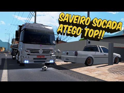 SAVEIRO REBAIXADA E ATEGO 24-25 QUALIFICADO - ETS 2 VIDA REAL!