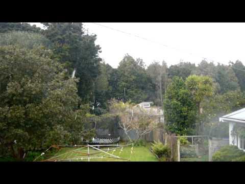 Snow in Pukekohe, New Zealand