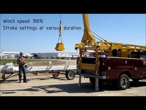 Hunke Pump Hoist with digital Kar-Tech spudder