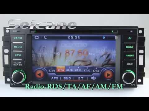 Universal OEM Navigation Head Unit for 2007-2011 Jeep Commander Compass Grand Cherokee Wrangler Unli